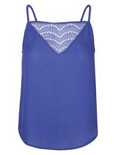 Blue strappy top from VERO MODA
