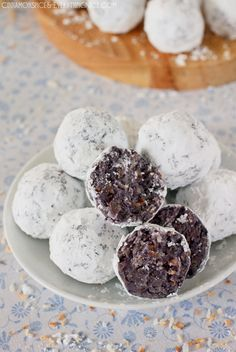 Blueberry Coconut Truffles