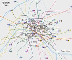 Paris To Go: Gluten-Free Métro Map of Paris- Free Printable Download