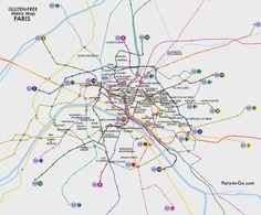 Paris To Go: Gluten-Free Métro Map of Paris- Free Printable Download