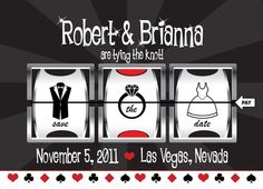Save the Date - Casino/Vegas Themed