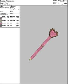 Embroidery Digital File Heart Pen by DixieCharmm on Etsy