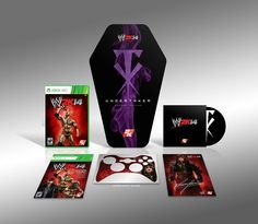 """The WWE Undertaker Phenom Edition Contains: Iconic Casket Packaging, Autographed Undertaker Photo, Undertaker DVD, Controller Skin, Exclusive In-Game Content - Undertaker Special """"American Badass"""" Special Entrance and gear and Ultimate Warrior. Wwe 2k14, Wwe Undertaker, Xbox 360, Playstation, Ps3, 2k Games, Wrestling Wwe, October 29, Anniversary Present"""