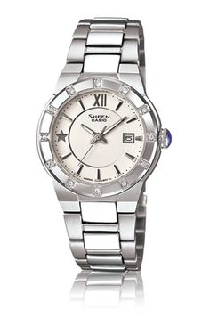 eaa9f3ee9e7 Ladies Sheen White Dial Watch Our Price  TimeCentre Online is an Authorised  Casio UK Retailer