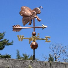 Copper Bee Weathervane