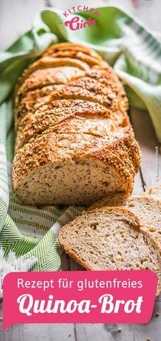Recipe for gluten-free quinoa bread without sugar: kitchengirls.de / … Recipe for gluten-free quinoa bread without sugar: kitchengirls. Healthy Party Snacks, Healthy Low Carb Snacks, Healthy School Snacks, Healthy Toddler Snacks, Low Calorie Recipes, Easy Snacks, Healthy Baking, Keto Snacks, Healthy Nutrition