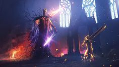 Weekend Fan Art - Dark Souls 3: Pontiff Sulyvahn, Espen's Arcade on ArtStation at https://www.artstation.com/artwork/8VKN6