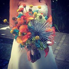 Retro starburst bridal bouquet