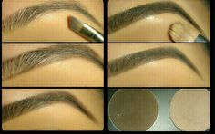 My go to guide for filling in my brows!  #eyebrows #makeup