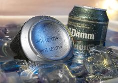 Industrial inkjet coding on aluminium beer cans. RX Series from Hitachi