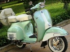 Vintage Vespa (I want one to tow my tiny vintage trailer!) ;-)
