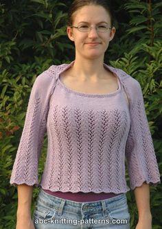 Vine Lace Summer Shrug Needles: US 4 circular and dpn Yarn Weight: 3 Yardage: 550