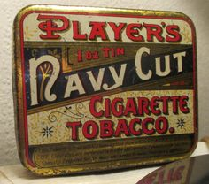 PLAYERS Navy Cut CIGARETTE TOBACCO tin 1ounce