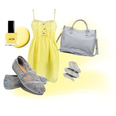 grey and yellow.. super cute for school