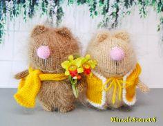 MOCHA CATS AMIGURUMI Cat Kitty Kitten - Mohair Cat Hand Knit Cat - Miniature Cat - Little Cat - Mohair Wool Cat - Handmade Gift