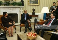 U.S. President Barack Obama speaks about gun control during a meeting with top…