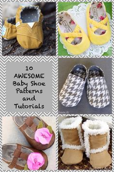 10 shoe sewing tutorials and patterns for babies and toddlers!--thelittlewaffleflowerblog.com