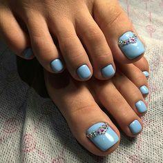 @IIIannaIII Pedicure Colors, Pedicure Nail Art, Toe Nail Art, Pedicure Ideas, Toe Nail Designs, Simple Nail Designs, Nails Design, Feet Nails, Toenails