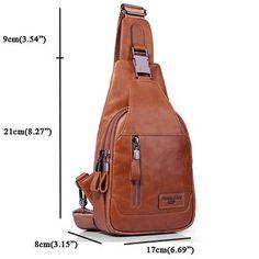 Ekphero Ekphero Men Genuine Leather Shoulder Bag Vintage Chest Bags  Crossbody Bags is worth buying - NewChic Mobile 29bb0bda90