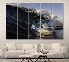 Waves Large Wall Art Canvas Print Waves Extra Large Waves Art Waves Canvas Waves Wall Art Waves Print Waves Poster Waves Photo Ocean Waves by ArtWog Large Canvas Wall Art, Extra Large Wall Art, Canvas Art, Canvas Prints, Office Wall Decor, Office Walls, Large Waves, Oversized Wall Art, Thing 1