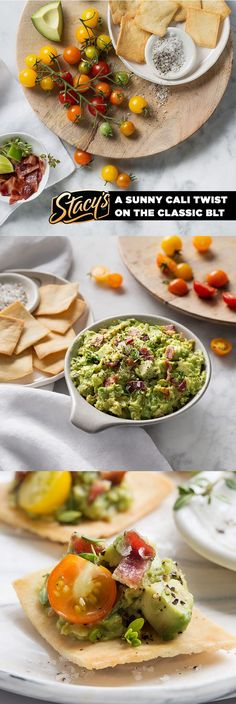 Stacy's® Pita Chip LA- Avo BLT Bites by James Beard Award-winning chef Hugh Acheson. Extra avocado? We can't get enough of James Beard Foundation Award-winning chef Hugh Acheson's west coast inspired BLT (bacon, lime, tomato) -- featuring Stacy's® & avocado!