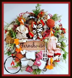 Rooster Wreath Farmhouse Wreath Welcome Wreath Farmhouse decor, Summer Decor Rooster Decor Country W