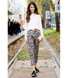 @Who What Wear - Silky trousers and lace-up flats are clearly a match made in heaven.
