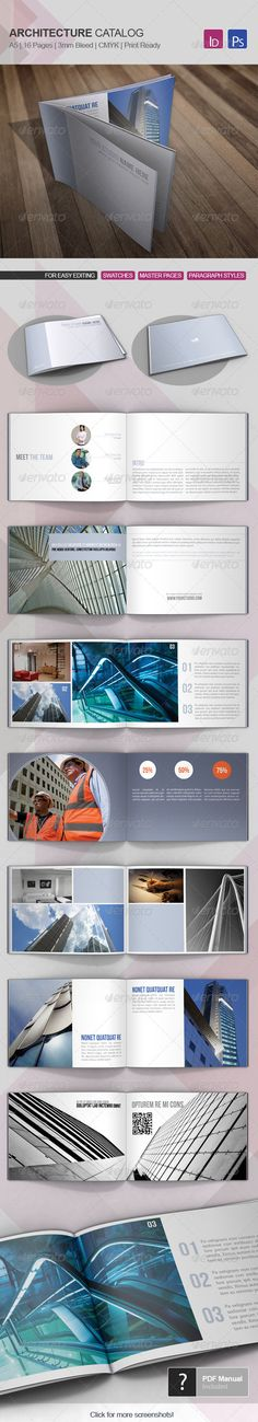 Architecture Catalog Template 02 #GraphicRiver Architecture catalog is a modern and clean