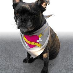Mother's Day Dog Bandana with Dog Mom Tattoo by doggydesign, $12.99