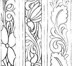 Resultado de imagem para drawings patterns for carving in leather