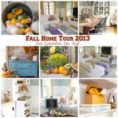 Our Finding Fall Home Tour 2013 - Four generations living together under one roof @Mandy Dewey Generations One Roof