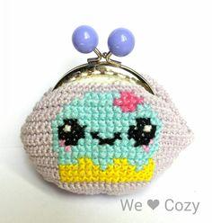 Cupcake purse crochet cross stitch – We Love Cozy