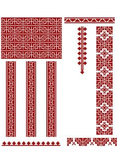 Beading Patterns, Cross Stitch, Symbols, Letters, Traditional, Embroidery, Beads, Sewing, Inspiration