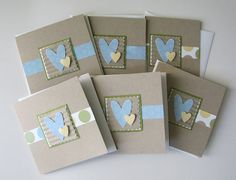Mini Note Card Set All Occasion Set of 6 by StampedTreasures1