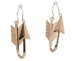 Hoop Arrow Earrings.