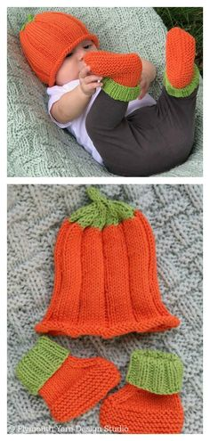 This Pumpkin Hat Free Knitting Pattern is a simple and basic pattern. In no time, you will have a beautiful knitted hat your little one will love wearing. Beanie Knitting Patterns Free, Baby Hats Knitting, Knitting Yarn, Free Knitting, Knitted Hats, Halloween Knitting Patterns Free, Knitted Booties, Loom Patterns, Loom Knitting Projects