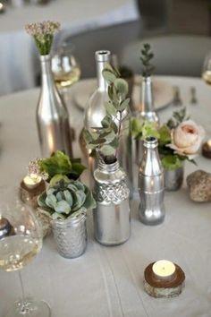 Floreros a partir de botellas recicladas