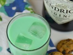 Green Cookie Monster Cocktail - We're not sure how this works, but we're in!