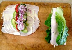 paleo lunch: turkey lunch wrap. Sooooo delicious. One of my fave lunches in a hurry.