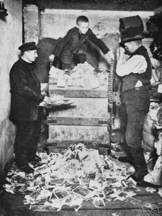 inch Photo Puzzle with 252 pieces. (other products available) - A boy and men with a pile of useless Deutsch mark banknotes as hyperinflation hits Germany in 1923 - Image supplied by Mary Evans Prints Online - Jigsaw Puzzle made in the USA Fine Art Prints, Framed Prints, Canvas Prints, Berlin, Ap World History, European History, Interesting History, Portrait, Historical Photos