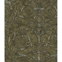 SEN18507 Brown Rod Iron Medallion - Kylan - Sensation Wallpaper by Patty Madden Ecology