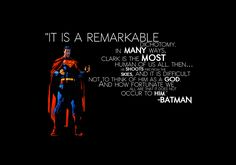 One of the best descriptions of Superman.