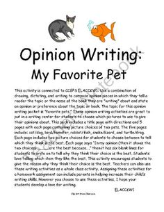 persuasive writing pack what is the best type of zombie pet opinion writing favorite pet persuasive writing the topic for this opinion writing packet is favorite pets these opinion writing activities are great