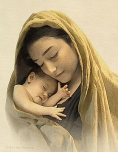 The Infant Virgin Mary Mary and baby jesus by ray