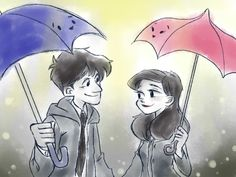Disney's Paper man and Pixar's Blue umbrella crossover. Makes sense since the stories are very similar to each other.