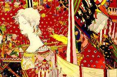 "darksilenceinsuburbia: drawgabbydraw: "" "" By Yoshitaka Amano. Art And Illustration, Illustrations, Japanese Contemporary Art, Wind Rises, Yoshitaka Amano, Final Fantasy Art, D D Characters, 3 Arts, Romanticism"