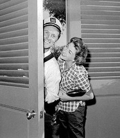 Kirk Douglas and his wife Anne.