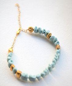 porcelain gold bracelet goutte de terre