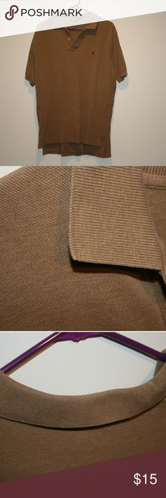 Polo by Ralph Lauren tanish brown Tanish Brown Polo by Ralph Lauren in great condition Polo by Ralph Lauren Shirts Polos