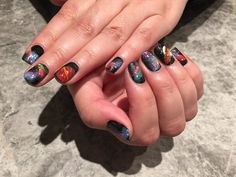 #tenoverten Galaxy Manicure #sephoranailspotting